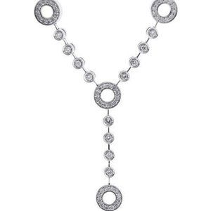 2.50 Ct round cut small diamonds WOMEN necklace wh